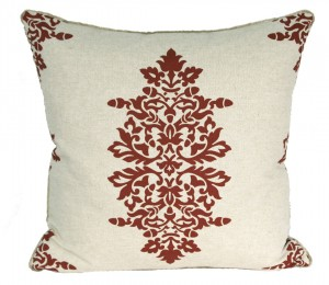 Red Damask Pillow
