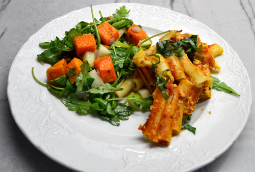 Weight Watchers Baked Ziti and Fall Harvest Salad