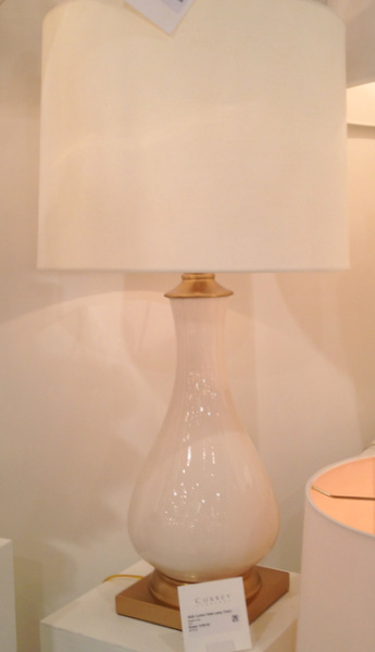 White Ceramic Lamp with God Base