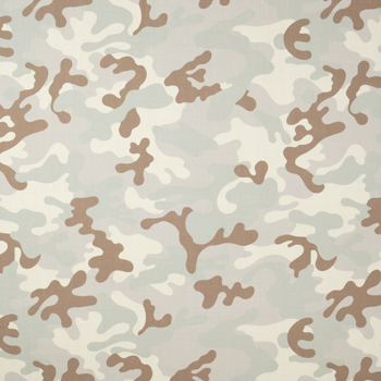 Clarence House Camo Fabric, Pale Neutrals