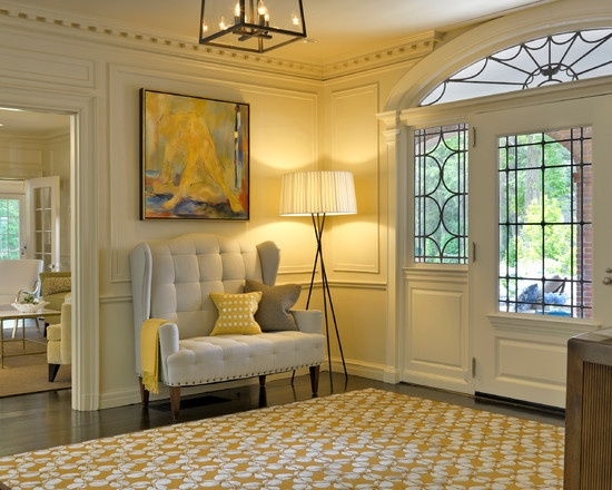 Yellow Rug In Foyer Inspiration