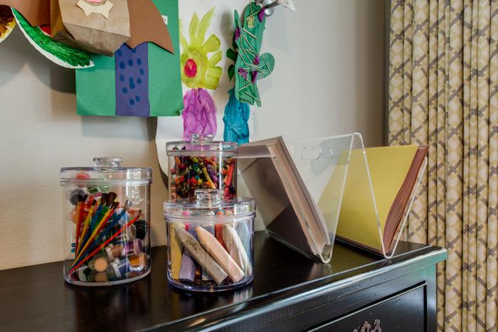 Maddie G Designs Playroom Creative storage for Art Supplies