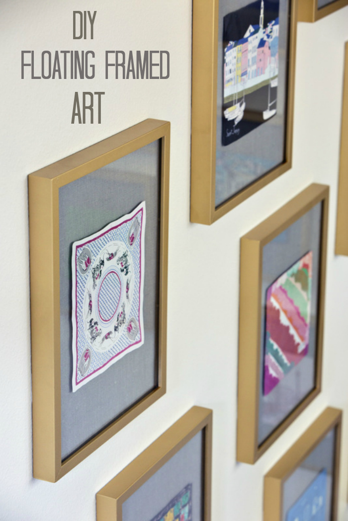 diy floating framed art tutorial on maddie g designs blog