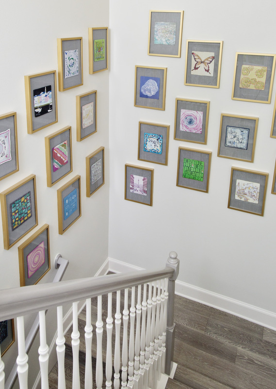 full diy floating frame gallery wall tutorial at maddie g designs the blog